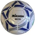 ミカサ サッカー 検定球5号 白×青 デザイン 貼り 人工皮革 天然ゴムチューブ MC55-WBL MC55-WBL