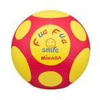 ミカサ ふぁふぁスマイルサッカーボール 手縫い4号球 キッズ用 FFF4-YR 黄/赤 FFF4-YR