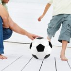サッカー フットボール PVC製 トレーニングサッカーボール 黒&白
