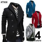 コート へちま襟変形コート 4色 T938