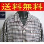 暖かいネル素材 上着の袖口とズボンの裾はフリース生地とネル素材で二重にしてあります♪秋冬用長袖紳士パジャマ LINEA MONICA