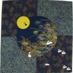 綿小風呂敷 ふろしき 月見うさぎ 紺 中巾(50cm幅) エコバッグ 手拭い 母の日 父の日 プレゼント