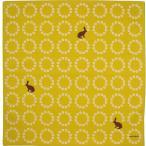 綿小風呂敷(ふろしき) -hare-野うさぎ(カーキ) 【echino】中巾(50cm幅) 手拭い 母の日 父の日 プレゼント
