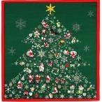 彩時記 綿小風呂敷 ふろしき クリスマス 中巾(50cm幅) エコバッグ 母の日 父の日 プレゼント 手拭い グリーン