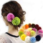 ピンポンマム髪飾り(L) クリップタイプ  髪飾り 花 フォーマル 結婚式 成人式 振袖 袴 和装 七五三 着物 浴衣