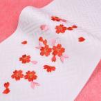 日本製 子供用 刺繍半衿(半襟) 白  七五三 結婚式 3歳 7歳 半襟
