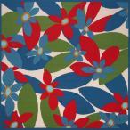 シビラ 大判 綿風呂敷 Sybilla マランタ(青)三巾(118cm幅) 手拭い 母の日 父の日 プレゼント 青の画像