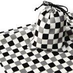 エコクロス-風呂敷(ふろしき)×巾着セット- 市松 風呂敷二巾(70cm幅)  巾着 20×15cm 手拭い 母の日 父の日 プレゼント  送料無料