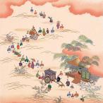 正絹さざ波ちりめん友仙風呂敷(ふろしき) 時代祭(クリーム) 木箱入り二巾(68cm幅) 手拭い 母の日 父の日 プレゼント