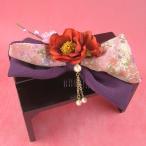 ショッピング髪飾り リボン髪飾りコーム 椿に梅 紫  髪飾り 花 フォーマル 結婚式 成人式 振袖 袴 和装 七五三 着物 浴衣