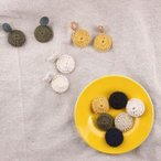 毛糸パーツ カラー アクセサリーパーツ 約26mm  4ヶ