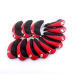 ゴルフヘッドカバー アイアンカバー Iron Cover 3~9、Pw、Aw、Sw、Lw、Lwセット 12枚入り