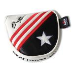 CRAFTSMAN クラフトマン マレット用 パターカバー  マグネット式 USA旗刺繍  ゴルフヘッドカバー