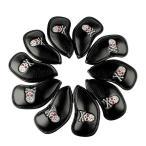 ヘッドカバー アイアンカバー Iron Cover 高級合皮スカルキングシリーズ10枚入り