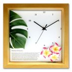 掛け時計壁掛け時計室内時計ウォールクロックおしゃれデザインアジアン・ハワイアンDECLOCKモンステラ