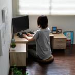 パソコンデスク コーナー対応 書斎 文机 ローデスク 座卓 チェスト ラック※2月上旬入荷分ご予約となります