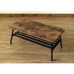 ローテーブル 座卓 ちゃぶ台 リビングテーブル コンパクト 折り畳み 折りたたみ 棚付き スクエア型 80cm 完成品 アンティークブラウン