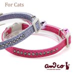 ショッピングラメ 猫 首輪 ラロック アミコ ラメダイヤ猫カラー メール便のみ送料無料 メール便可 ギフト包装可