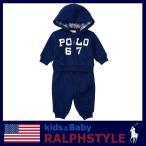 ポロ ラルフローレン セットアップ 長袖 18カ月(85cm) コットン混 ネイビー 紺 赤ちゃん ベビー ブランド 送料無料