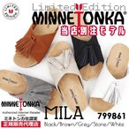 【MINNETONKA ミネトンカ】正規販売代理店 正規品 MILA ミラサンダル【799861】本革/タッセル