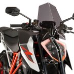 ショッピングGENERATION Puig 9692F NEW GENERATION (DARK SMOKE) KTM 1290SUPERDUKE R (17-) プーチ スクリーン カウル