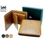 Lee リー イタリアンレザー ベラ付き折財布 ボタン  520234