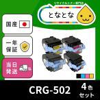 CRG-502 4色セット (CRG502) リサイクルトナーカートリッジ LBP5600 / LBP5600SE / LBP5610/ LBP5900 / LBP5900SE / LBP5910 / LBP5910F