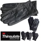 手袋 天然素材 柔らか 暖かさ 羊革 高機能中綿 ブラック 3M Thinsulate シンサレート メンズ 5型 防寒 レザー 革 プレゼント 定形外郵便送料無料
