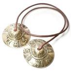 チベット密教 ティンシャ(チベタンシンバル) 梵字 ミニ|チベット密教|楽器|瞑想|手作り メール便対応可