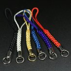 ガムランボールにピッタリ根付紐ストラップパーツ黒、銀、金、青、紫、赤メール便対応可