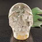 一点物 天然水晶 クリスタルスカル(骸骨)カービング(彫刻) 274g|ヒューマンスカル|人間ガイコツマヤ|アステカ|彫刻