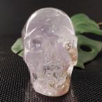 一点物 アメジスト ヒューマン スカル(骸骨) カービング(彫刻) 置物 280g|クリスタルスカル