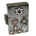 goodvibrations 世界のシンボル 六芒星(ダビデの星) プロビデンスの目 グアダルーペの聖母 アンティーク ジッポ ライター|ソロモンの印|フリーメイソン