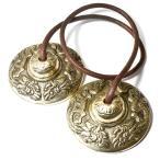 チベット密教 ティンシャ(チベタンシンバル) 龍(ドラゴン) 7メタル|チベット密教|楽器|瞑想|手作り メール便対応可