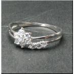 スイート テン sweet ten ダイヤ リング PT900 プラチナ 天然ダイヤモンド フラワー 花 はな 0.2ct リング 指輪