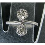 ダイヤモンド リング フリーサイズ K18WG K18ホワイトゴールド ダイヤ 指輪