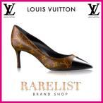 ショッピングVUITTON ルイヴィトン LOUIS VUITTON 靴 シューズ パンプス 新作 モノグラム ブラウン ブラック パテント レザー キトンヒール