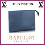 ショッピングVUITTON ルイヴィトン LOUIS VUITTON クラッチバッグ バッグ バック 新作 ブルー シルバー タイガ レザー ヴォワヤージュ LVロゴ セカンドバッグ