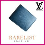ショッピングVUITTON ルイヴィトン LOUIS VUITTON 財布 小財布 2つ折り 二つ折り 新作 ブルーセレスト ブルー コンパクト エピレザー エピ LVシグネチャー ミュルティプル メンズ