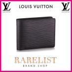 ショッピングVUITTON ルイヴィトン LOUIS VUITTON 財布 小財布 2つ折り 二つ折り 新作 ノワール ブラック コンパクト エピレザー エピ LVシグネチャー ミュルティプル メンズ