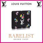 ショッピングVUITTON ルイヴィトン LOUIS VUITTON 財布 小財布 2つ折り 二つ折り フラップ かぶせ 新作 ブラック 黒 シルバー フラワー レザー 本革 LV ロゴ