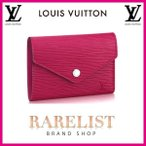 ショッピングVUITTON ルイヴィトン LOUIS VUITTON 財布 小財布 3つ折り かぶせ 新作 フューシャ シルバー コンパクト エピレザー LVシグネチャー ヴィクトリーヌ レディース