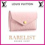 ショッピングVUITTON ルイヴィトン LOUIS VUITTON 財布 小財布 3つ折り 三つ折り かぶせ 新作 ローズバレリーヌ ピンク ゴールド モノグラムヴェルニ レザー