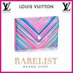 ショッピングVUITTON ルイヴィトン LOUIS VUITTON 財布 小財布 3つ折り かぶせタイプ 新作 トロピカル シルバー コンパクト エピレザー LVシグネチャー ヴィクトリーヌ レディース