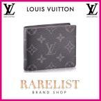 ショッピングVUITTON ルイヴィトン LOUIS VUITTON 財布 小財布 2つ折り 二つ折り 新作 モノグラムエクリプス ブラック グレー パンス エクリプス レザー LV ロゴ