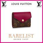 ショッピングVUITTON ルイヴィトン LOUIS VUITTON 財布 小財布 3つ折り かぶせ 新作 モノグラム ブラウン フューシャ ゴールド コンパクト LV ロゴ