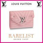 ショッピングVUITTON ルイヴィトン LOUIS VUITTON 財布 小財布 3つ折り かぶせ 新作 スムージーピンク ピンク シルバー LV ロゴ ステッチ