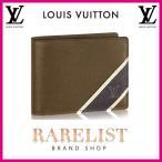 ショッピングVUITTON ルイヴィトン LOUIS VUITTON 財布 小財布 2つ折り 二つ折り 新作 ステップアルドワーズ コンパクト タイガレザー タイガ LV ミュルティプル メンズ