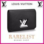 ショッピングVUITTON ルイヴィトン LOUIS VUITTON 財布 小財布 2つ折り 二つ折り フラップ かぶせ 新作 ノワール ブラック 黒 シルバー ツイスト エピ レザー 本革 LVロゴ