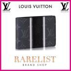 ショッピングVUITTON ルイヴィトン LOUIS VUITTON 財布 小財布 2つ折り 二つ折り 新作 モノグラム エクリプス ブラック グレー LV ミュルティプル エクリプスキャンバス